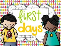 Activities for the first week in kinder and 1st....TONS of activities, anchor charts, and ideas