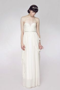 Sarah Seven Forget Me Not ~ Love this wedding dress it's the epitome of soft, feminine understated elegance.