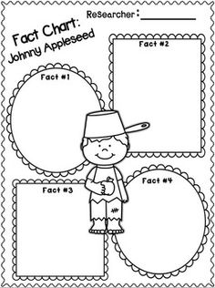 "Apples & Johnny Appleseed Writing ""Research"" Unit for 1st-2nd Grades!  UPDATED this unit!  FREEBIES in the Preview!"