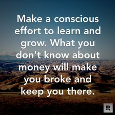 Knowledge is power. #Inspiration #Money