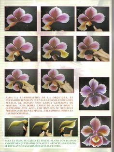 pincelada orquidea multicarga - Buscar con Google