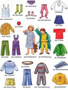 die Kleidung part 1 #kleidung #ubrania