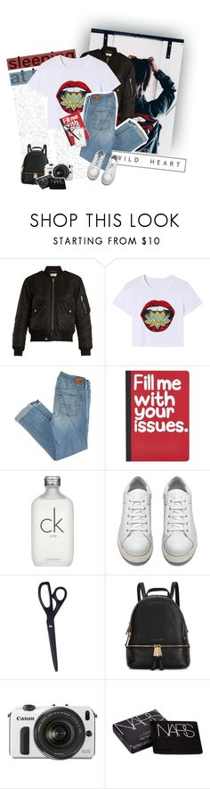 """""""&&; E L O Q U E N C E"""" by kicking-up-daisies ❤ liked on Polyvore featuring GET LOST, Yves Saint Laurent, American Eagle Outfitters, Pier 1 Imports, Calvin Klein, Acne Studios, HAY, Michael Kors, Eos and NARS Cosmetics"""
