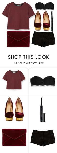 """""""Untitled #504"""" by queenslays ❤ liked on Polyvore featuring MANGO, Calvin Klein Underwear, Charlotte Olympia, Christian Dior, Rebecca Minkoff and L'Agence"""