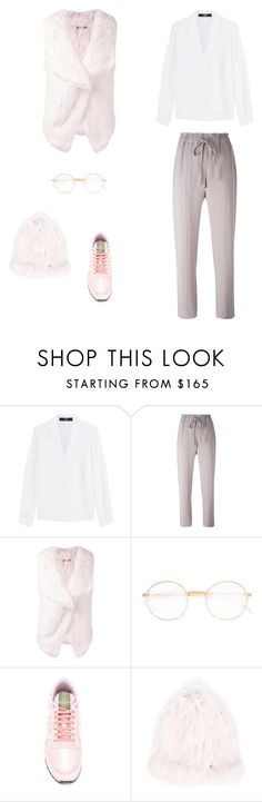 """""""🗽"""" by marya18 ❤ liked on Polyvore featuring Steffen Schraut, Mykita, Valentino and Yves Salomon"""