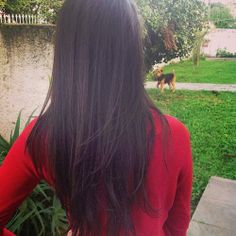 Long hair cut with lots of layering in the bottom. Wish my hair would grow long enough to do this