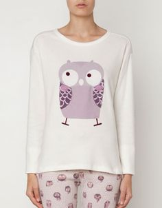 Owl print fleece top - T-shirts - United Kingdom