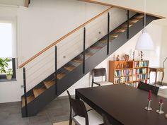 escalier metal noir et bois - Recherche Google