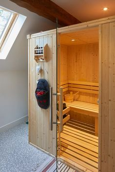 Sauna room in new build house. Master bedroom in sef build By Potton, Self-Build Specialists Cottage House Designs, Country House Design, Cottage Style Homes, Self Build Houses, Sauna Room, Home Budget, Planning Permission, Timber Frame Homes, Building A House