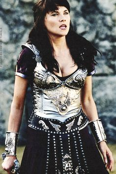 Xena wore this when she fought Livia (Eve) in the arena in Rome (Livia chose Xena as champion of the Elisians)