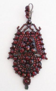 Victorian Bohemian Garnet Pendant - Garden Party Collection Vintage Jewelry