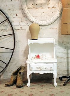 Painted Cottage Chic Shabby White Romantic by paintedcottages, $130.00