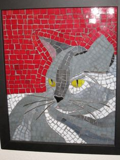 Cat Lover Mosaic by badpennybeads on Etsy, $140.00