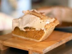 Down Home Sweet Potato Pie with Maple Syrup Meringue from CookingChannelTV.com    has recipe for all butter pie dough and maple meringue