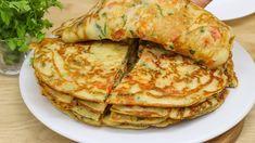 Warum kannte ich dieses schnelle Pfannkuchen rezept vorher nicht? gesundes und billiges Essen # 12 - YouTube Quick Pancake Recipe, Cheap Meals, Cheap Food, Cooking Recipes, Healthy Recipes, Pancakes And Waffles, Vegetable Salad, Crepes, I Foods