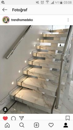 Stairs Tiles Design, Staircase Design Modern, Stair Railing Design, Home Stairs Design, Modern Stairs, Interior Design Living Room, Interior Decorating, Bungalow House Design, House Front Design