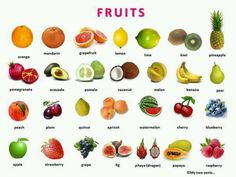 Fruits via English is fun