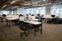 Oficinas nuevas. Open Space AFC Chile.  Huérfanos 670, Santiago, Chile Superficie: 1.600 m2 Contract Workplaces