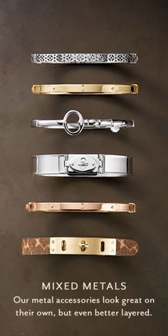 Women's Fall Styles | Fall 2012 Fashion for Women | FOSSIL  I LOVE mixed metals! Why choose just one?!