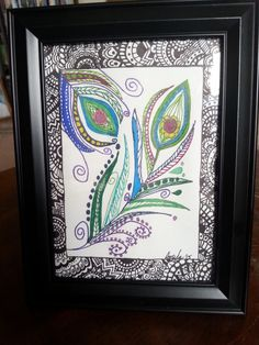 Hey, I found this really awesome Etsy listing at https://www.etsy.com/listing/222491827/free-shipping-framed-hand-drawn-art-zen