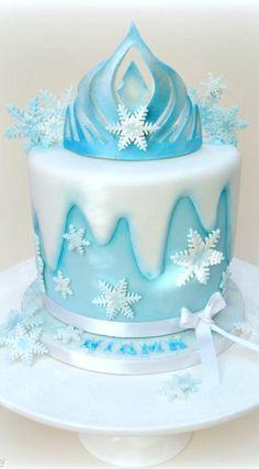 Elsa's Crown Cake