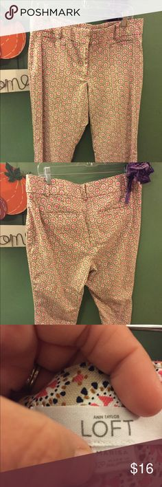 Ann Taylor LOFT Marisa Ankle Pants size 12P NWOT New without tags. Never worn out of the house. Cropped ankle length size 12 petite LOFT Pants Trousers