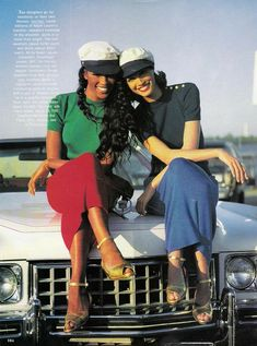 Christy Turlington and Naomi Campbell shot by Patrick Demarchelier for Harpers Bazaar 1998