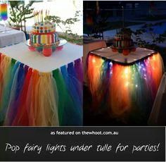 Tule and fairy lights