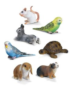 Lots of little Schleich animals. They work so well for sorting into categories for lots of stations.