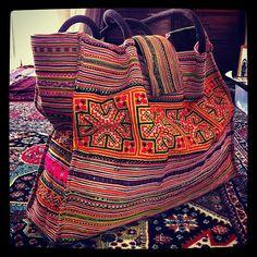 I never get tired of my Vietnam bag Bohemian Gypsy, Boho, Gypsy Bag, Ethnic Style, Going Home, Ethnic Fashion, Chanel Boy Bag, Creative Ideas, Tired