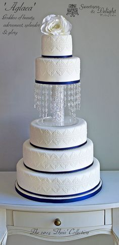 Crystal & Lace Wedding Cake