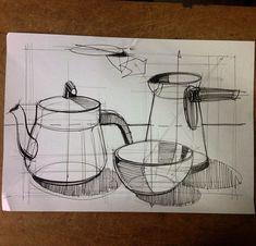 18 Saucepan Pencil Drawing Ideas - New Basic Sketching, Basic Drawing, Drawing Lessons, Drawing Techniques, Drawing Ideas, Pencil Sketch Drawing, Pencil Art Drawings, Easy Drawings, Art Sketches