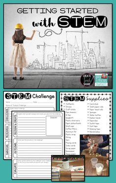 Getting started with STEM in your upper elementary classroom! Tips for supplies, tasks, and challenges. FREEBIES included!