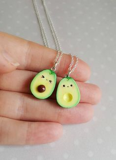 MADE TO ORDER! These are handmade polymer clay charms. Miniature food, kawaii avocado is a great friendship necklace and pendant. Surprise your friend with a great gift- this avocado pendant is not only very cute but also appetizing and friendly meaningful. It comes in a
