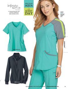 Get the latest scrubs and uniform catalog by Scrubs and Beyond. Nursing Uniforms, Medical Uniforms, Professional Wear, Nurse Life, Scrub Tops, Work Wardrobe, Dentistry, Scrubs, How To Wear