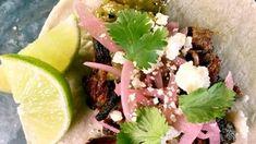Carnitas Street Tacos (The Chew - Ali Romero) The Chew Recipes, Pork Recipes, Mexican Food Recipes, New Recipes, Crockpot Recipes, Cooking Recipes, Favorite Recipes, Mexican Dishes, Recipies