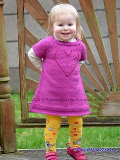 Knitting Pattern Brilliant Heart Tunic Baby and by ViTalinaCraft