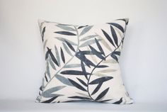 Ebony Leaf Pillow Cover 18 X 18 by TextureAndTwill on Etsy, $40.00