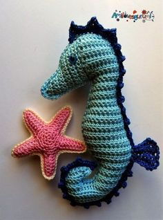 Seahorse - free crochet pattern in English and German at Amilovesgurumi