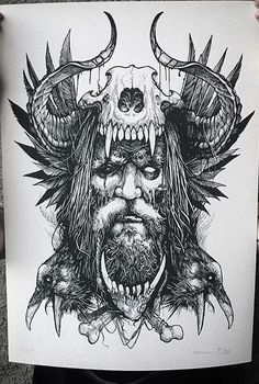 Il potente Dio - Il potente Dio You are in the right place about diy Here we offer you the most beautiful pictures a - Skull Tattoo Design, Viking Tattoo Design, Tattoo Sleeve Designs, Tattoo Sketches, Tattoo Drawings, Body Art Tattoos, 3d Tattoos, Tattoo Ink, Viking Tattoo Sleeve