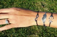 GroopDealz | Anchor Leaf and Infinity Bracelet Set! Limited Qty