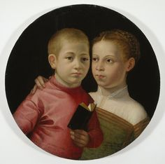 Double Portrait of a Boy and Girl of the Attavanti Family, Early Paintress: Sofonisba Anguissola Allen Memorial Art Museum, Oberlin College, OH Renaissance Portraits, Renaissance Artists, Potrait Painting, Portrait Art, Renaissance And Reformation, Wander Woman, Female Painters, Old Portraits, Miniature Portraits