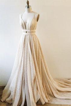 A-Line Prom Dresses,Light Champagne Prom Dresses,Lace Prom Dresses,Prom Dresses 2017