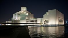 The Museum of Islamic Art, designed by I. M. Pei, at night in Doha, Qata. Photo credit: James Duncan Davidson
