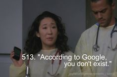 Classic Cristina. According to Google, you don't exist.  Why am I so addicted to this??