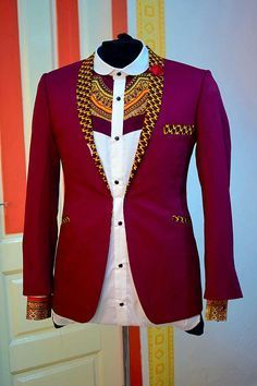 African Men Jackets, African Suits, Ankara Jackets, These men appearance us what macho appearance sh African Shirts For Men, African Dresses Men, African Attire For Men, African Clothing For Men, African Wear, African Suits, African Clothes, Nigerian Men Fashion, African Print Fashion