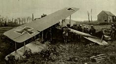 A downed German aircraft behind enemy lines.