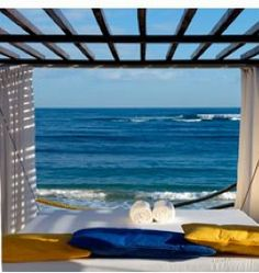View from one of the many sun beds at Lifestyle Holiday Vacations Resort on Cofresi Beach in Puerto Plata, Dominican Republic...where I'll be in a month. Woot woot!