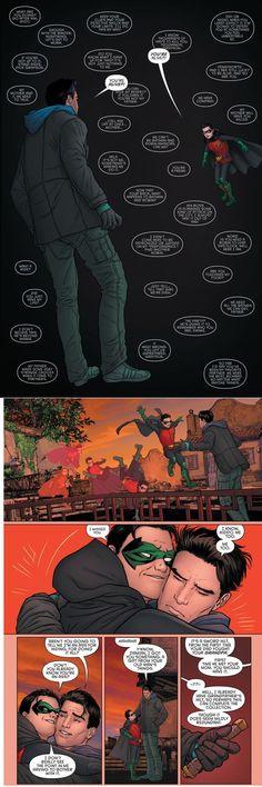 Richard Grayson+Damian Wayne=Awww...