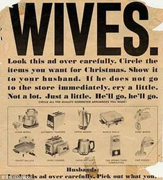 I know it's 1950s sexist but I really did want that $600 Dyson. Maybe out of expensive spite ;)